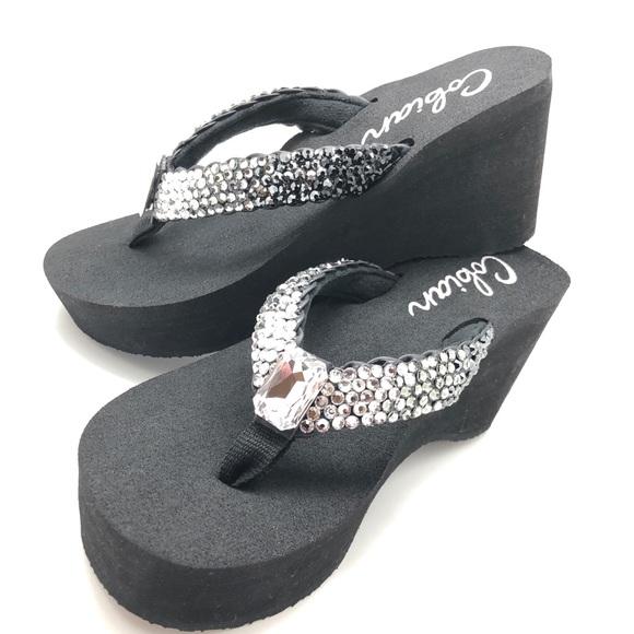 88d98bbd71c1 Sparkle Steps Shoes   Swarovski Crystal Bling Sandals   Poshmark